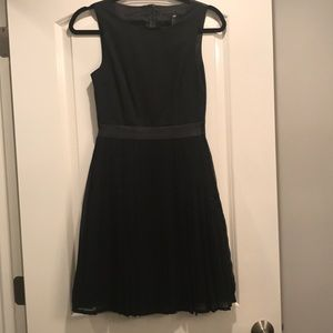 H&M Leather Pleated Dress